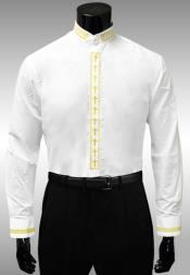 banded collar shirts for men