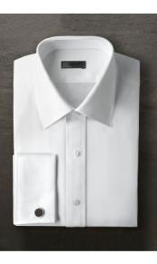 White Laydown Tuxedo Shirt Ike Evening by Ike Behar Tuxedo Authentic