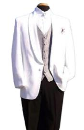 Snow White One-Button Front Shawl Lapel Dinner Jacket $99 (Wholesale price $95