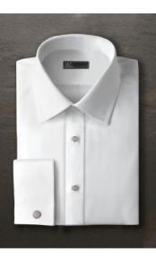Evan White Laydown Tuxedo Shirt Ike Evening by Ike Behar Tuxedo Authentic