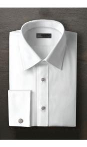 Logan White Laydown Tuxedo Shirt Ike Evening by Ike Behar Tuxedo Authentic