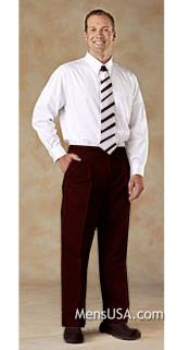 Pleated Pants / Slacks Plus White Shirt & Matching Tie Brown