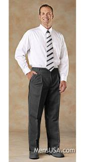 Mens Charcoal Gray Pleated Pants / Slacks