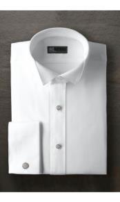 Mitchell White Wingtip Tuxedo Shirt Ike Evening by Ike Behar Tuxedo Authentic