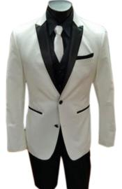 White Two Button Tuxedo