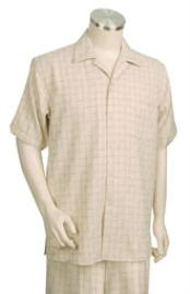 Suit Mens Short Sleeve