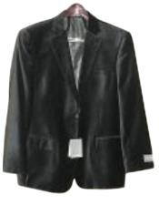 Black Luxurious soft velvet Coat Mens Mens Wholesale Blazer