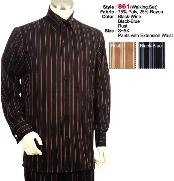 Set Casual Suit in Black-Wine or Rust or Black-Blue including Matching