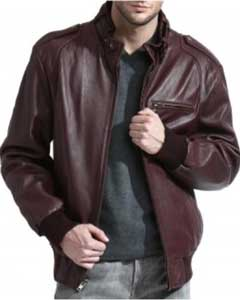 Mens Brown MemberS Only Lambskin Leather Jacket A Gorgeous Lambskin Leather Bomber Jack BlackCognacBurgundy ~ Wine