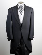 Mens 100% Worsted Wool Black Cutaway Jacket with the tail suit tuxedo