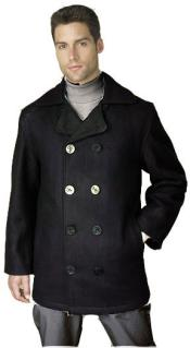 Top Notch peacoat Black
