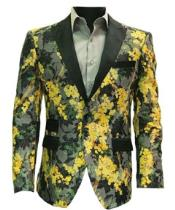 Men's Suits & Sport Coats Mens Slim Fit Yellow Blazer Printed Sport Coat $ 69 99 Prime. out of 5 stars 4. Vesuvio Napoli. Men's Paisley Design Dress Vest & Bow Tie YELLOW Color BOWTie Set for Suit Tux $ 24 out of 5 stars 8. YFFUSHI. Slim fit 2 Piece Suit for Men One Button Casual/Formal/Wedding Tuxedo.