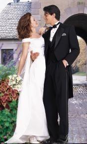 Black Tailcoat Tuxedo 2PC