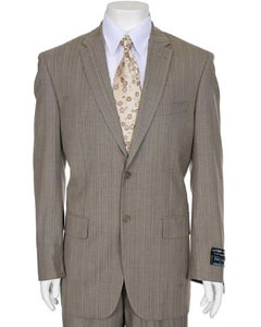 Light Taupe Stripe 2-button