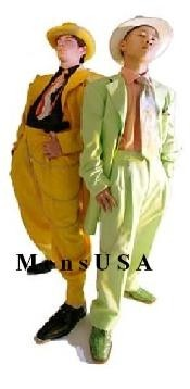 Green Or Mustard/Yellow or Apple Green Fashion Zoot Suit