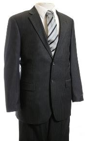 Suit Charcoal Pinstripe affordable