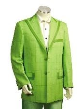 Two Button Suits lime