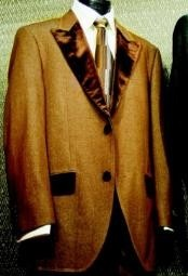 Denim Fabric Tuxedo Trimmed