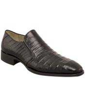 Mens Mezlan Exotic Black Crocodile Fiorello Slip On Shoe Authentic Mezlan