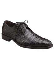 Mens Mezlan Leather Lined Brown Crocodile Lace Up Shoes Authentic Mezlan