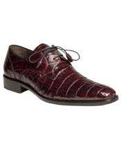 Mens Mezlan Fully Leather Burgundy ~ Wine ~ Maroon Color Full