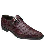 Mens Mezlan Burgundy ~ Wine ~ Maroon Color Real Deal Monk
