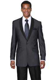 Midnight Blue Shawl Collar Slim Fit Tuxedos Cheap suits for men