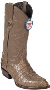 Beautiful Mink Color Gator Skin Tail Cowboy Boots