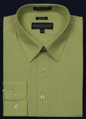 Slim Fit Dress Shirt - lime mint Color