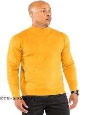 Mens Classic Knit Mock Up Pullover Available in Big And Tall