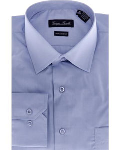 Modern-fit Blue Mens Dress Shirt
