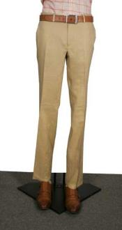 Modern Fit Flat Front Pants Tan