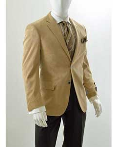 Corduroy Mens Wholesale Blazer - Modern Fit Khaki ~ Tan ~