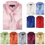 Satin Dress Shirt With