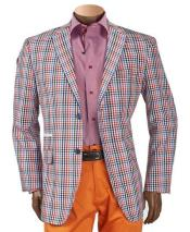 Mens Multicolor Checker ~ Plaid ~ Windowpane Mens Blazer ~ Sportcoat ~ Jacket
