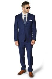 Blue Suit For Men Slim Fit 2 Button Peak Lapel BeeHive