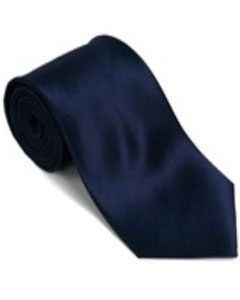 100% Silk Solid Necktie With Handkerchief