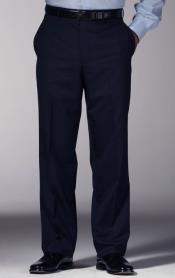 Navy Blue Slim Fit Dress Pants