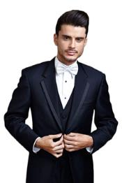 Navy Blue Edge Two Button Tuxedo