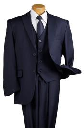 Navy Blue 5 Piece 2 Button Suit