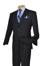 Navy Blue Suit For Men 2 Button Italian Cut Mens Suits 2