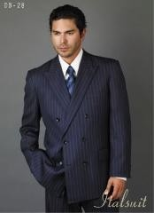 Blue Suit For Men/PS Suit With Smooth Stripe ~ Pinstripe Full