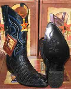 Altos Navy Blue Genuine Crocodile ~ World Best Alligator ~ Gator Skin Tail Western Cowboy Boot