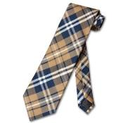 Brown White Design Mens Neck Tie