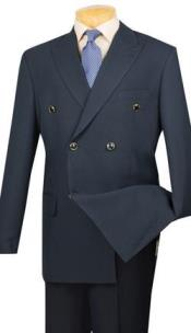 Navy Vinci Mens Blazer With Best Cut & Fabric Double Breasted Sport Coat jacket