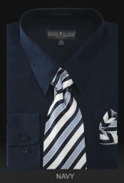 Dress Shirt - PREMIUM TIE - Navy