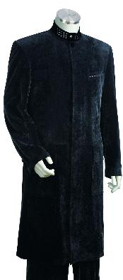 Dark Navy Stylish Long Zoot Suit 45 Long Jacket EXTRA LONG
