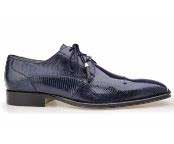 Karmelo Authentic Belvedere Exotic Skin Brand Genuine Navy Lizard Leather Lining Cushion Insole Shoe