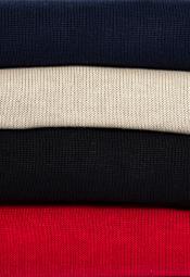 Long Sleeve Turtle Neck Fine Gauge Knit Navy Biscuit Black Red