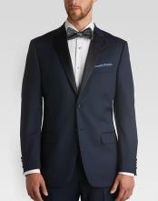 Navy blue ~ Midnight Slim Fit Tuxedo + Tuxedo Shirt & Bow